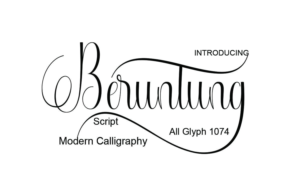 Print on Demand: Beruntung Script & Handwritten Font By naldystudio