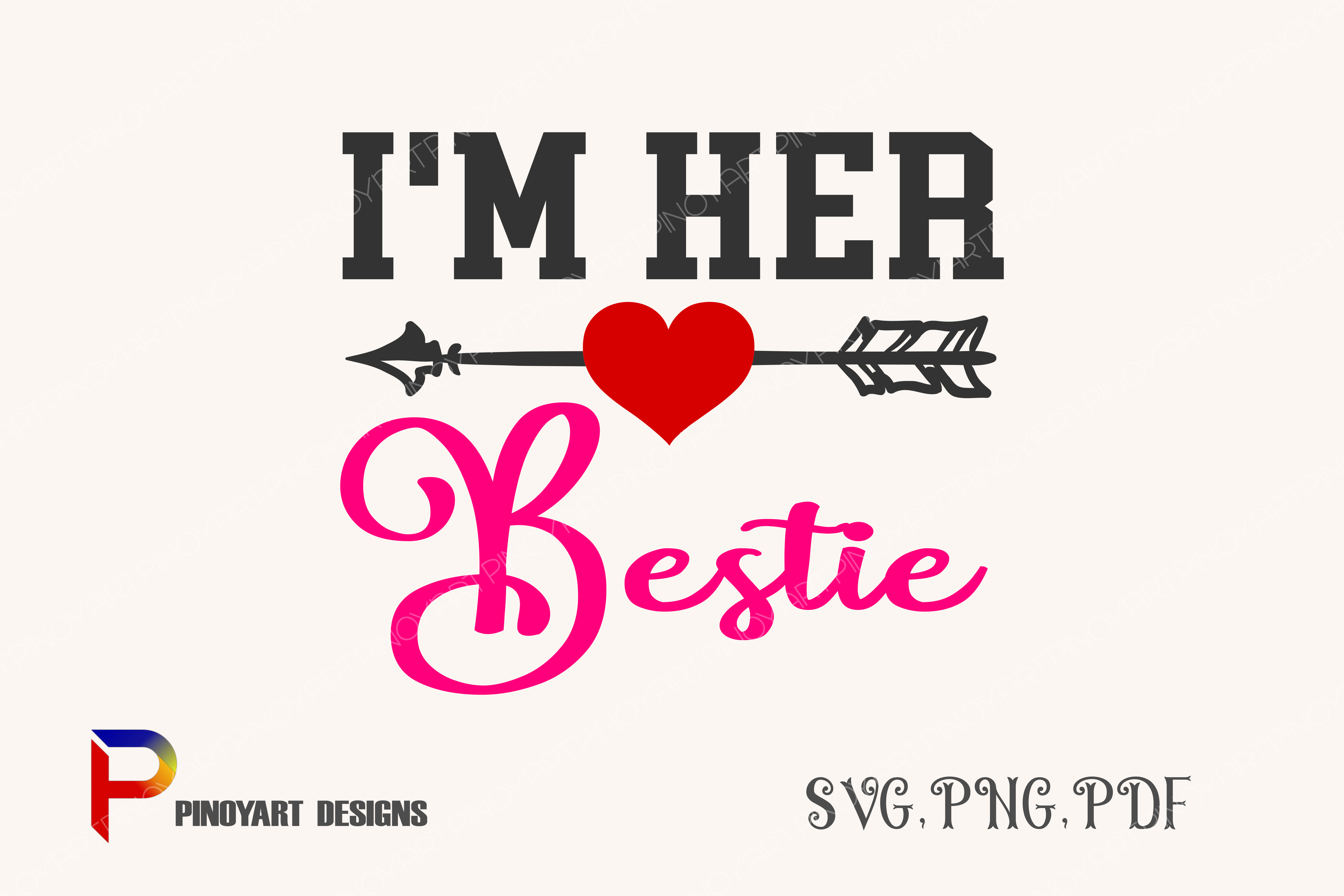 Download Free Bestie Graphic By Pinoyartkreatib Creative Fabrica for Cricut Explore, Silhouette and other cutting machines.