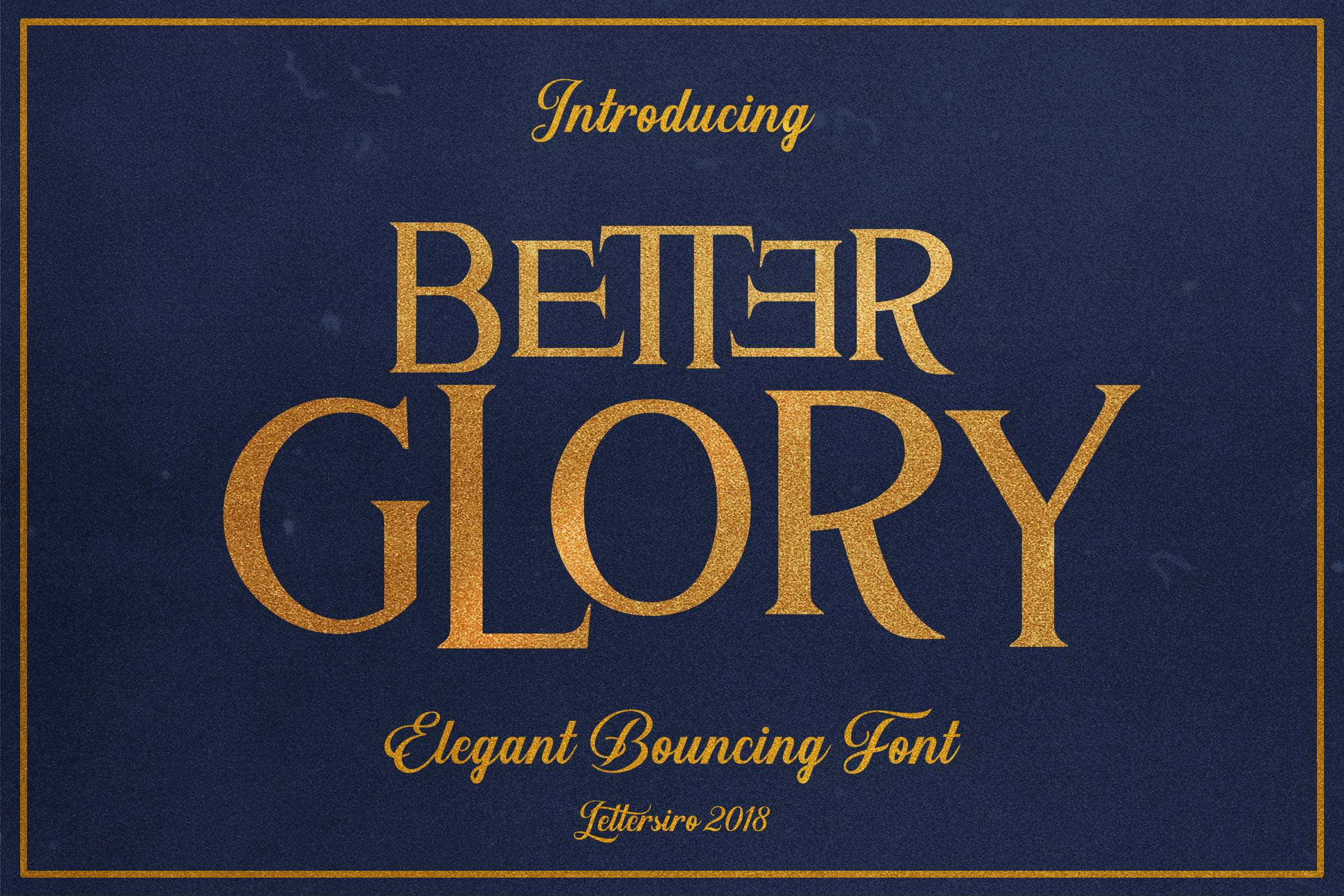 Print on Demand: Better Glory Display Font By Lettersiro Co.