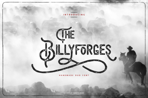 Print on Demand: Billyforges Sans Serif Font By Burntilldead - Image 1