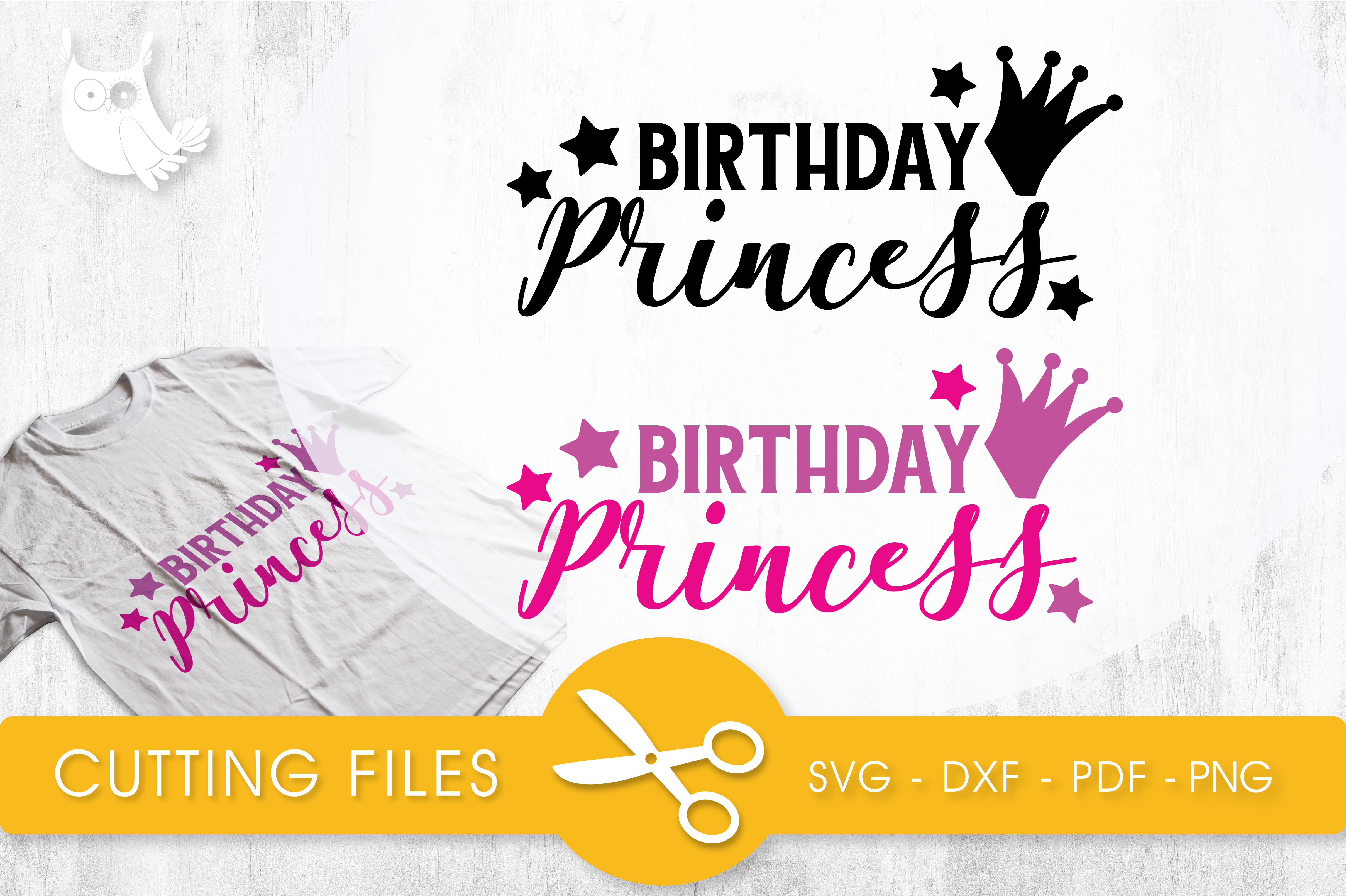 Birthday Princess Gráfico Crafts Por PrettyCuttables