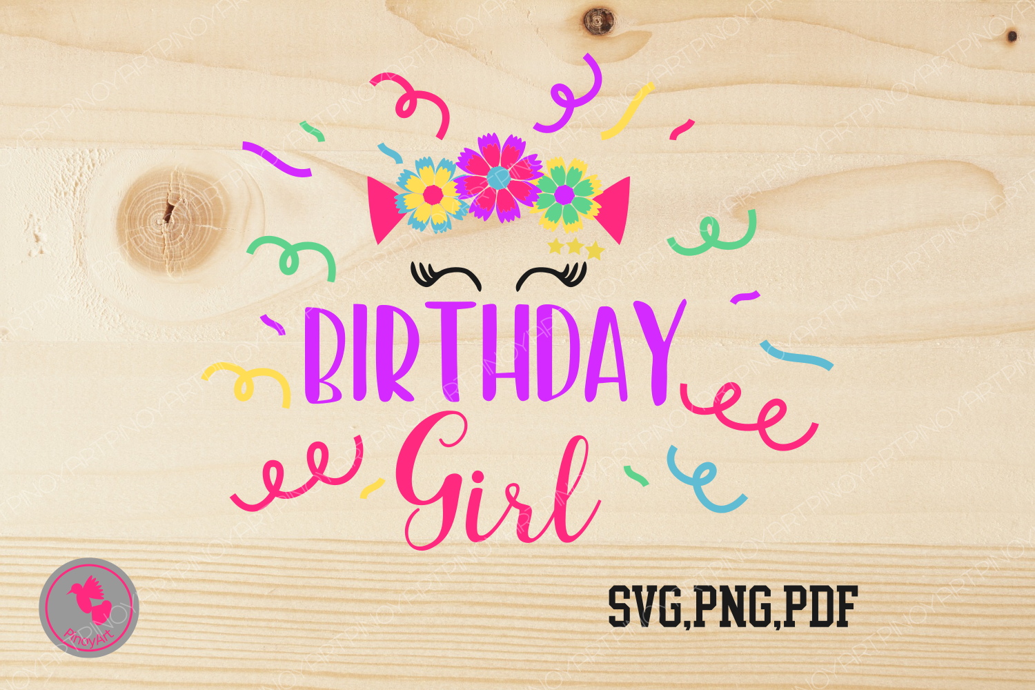 Download Free Birthday Girl Graphic By Pinoyartkreatib Creative Fabrica for Cricut Explore, Silhouette and other cutting machines.