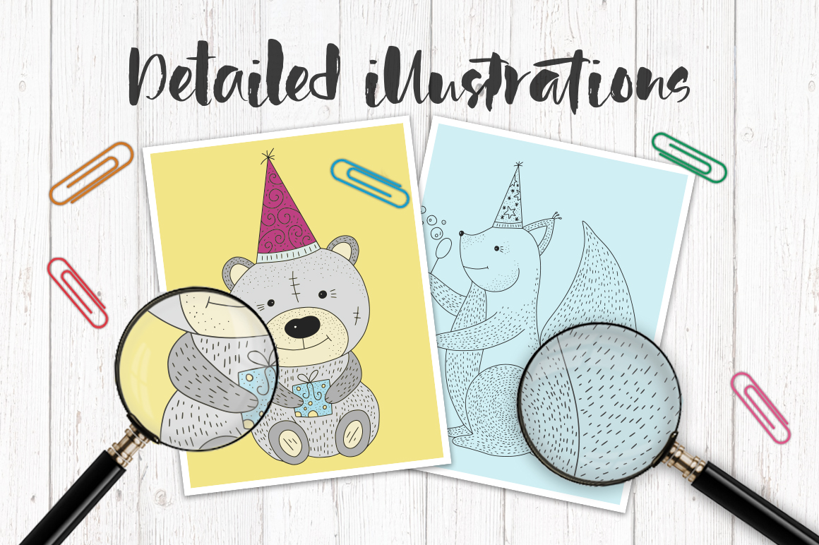 Print on Demand: Birthday Party. Big Graphic Set. Graphic Illustrations By Red Ink - Image 3