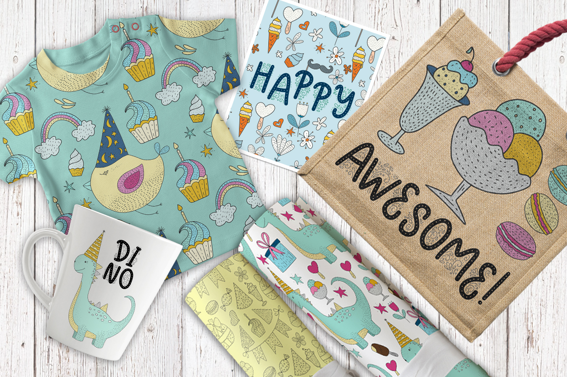 Print on Demand: Birthday Party. Big Graphic Set. Graphic Illustrations By Red Ink - Image 4