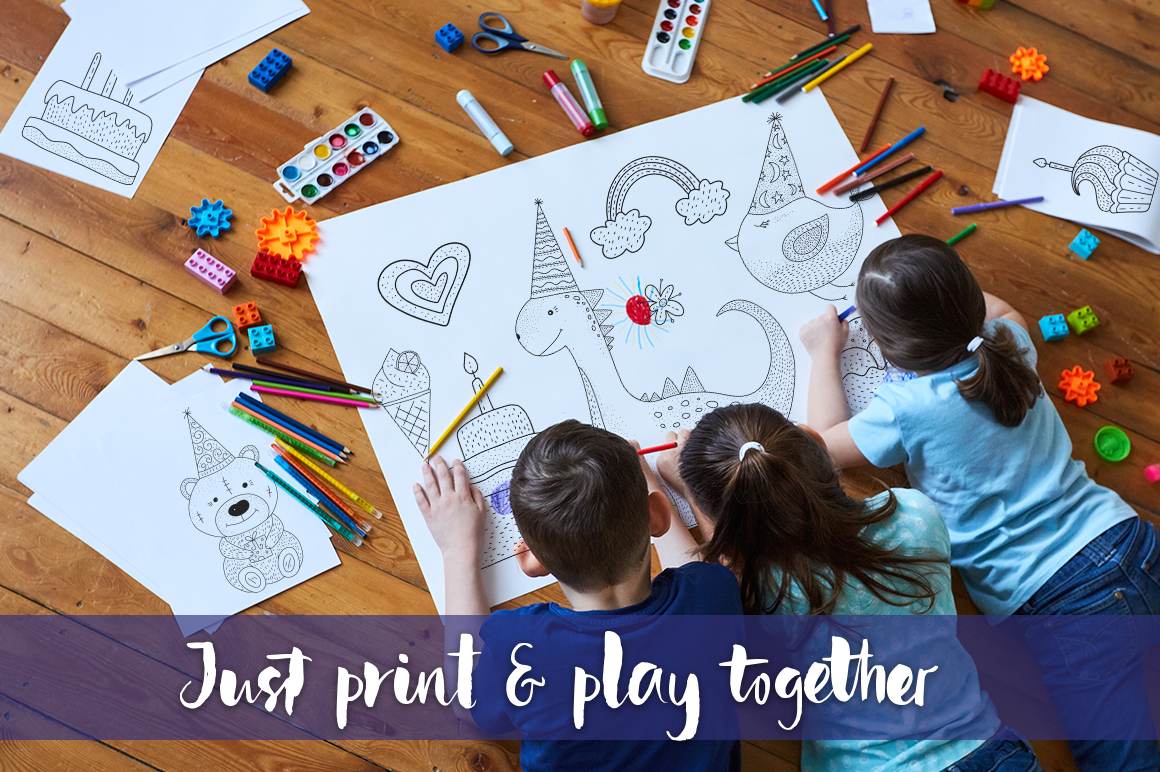 Print on Demand: Birthday Party. Big Graphic Set. Graphic Illustrations By Red Ink - Image 5