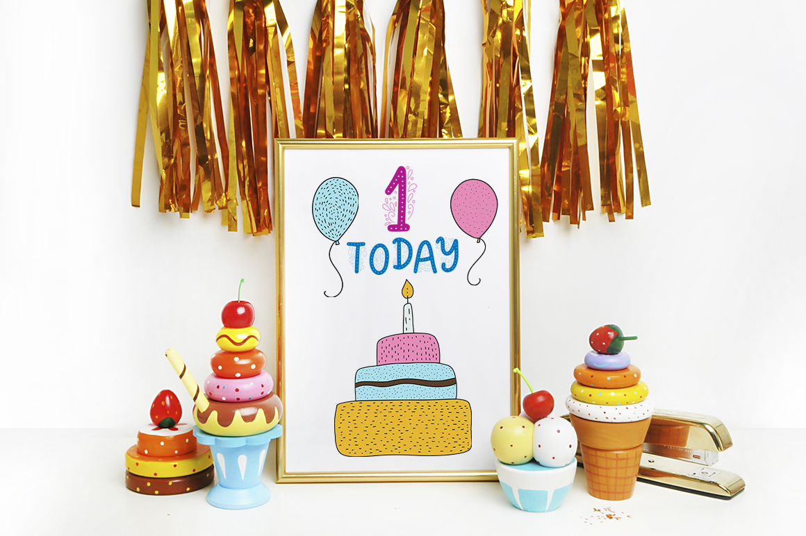 Print on Demand: Birthday Party. Big Graphic Set. Graphic Illustrations By Red Ink - Image 7