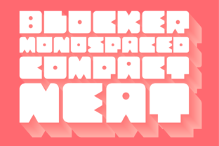 Print on Demand: Blocker Display Font By pedrobcancer