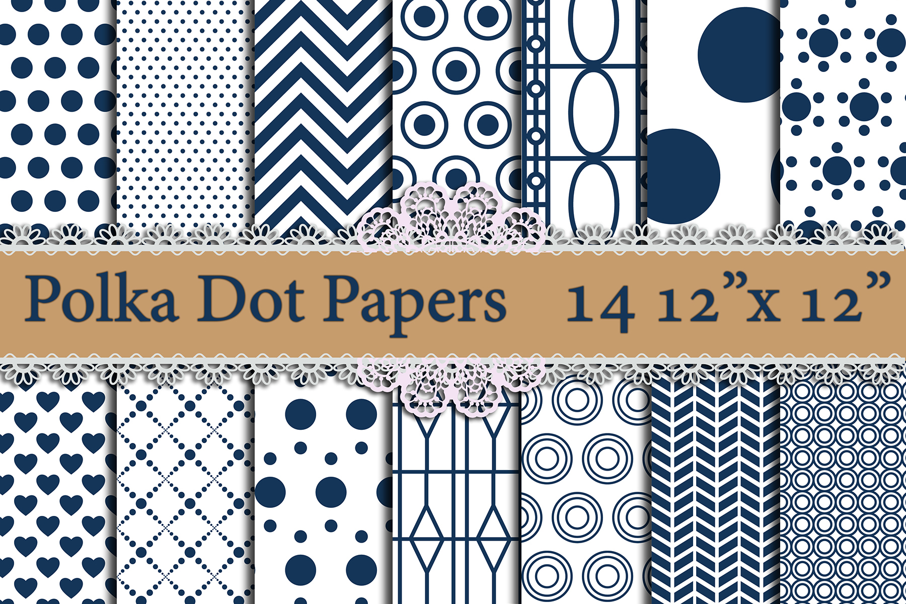 Blue Polka Dot Digital Paper,POLKA DOT PATTERN, Printable Patterns Graphic By prettydesignstudio