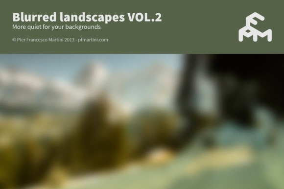 Print on Demand: Blurred Landscapes VOL.2 Graphic Backgrounds By pfmartini