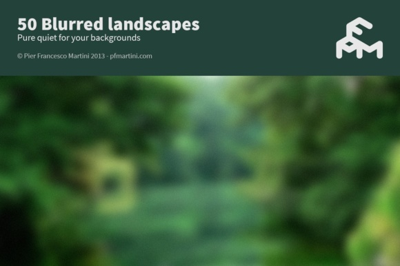 Print on Demand: Blurred Landscapes Graphic Backgrounds By pfmartini