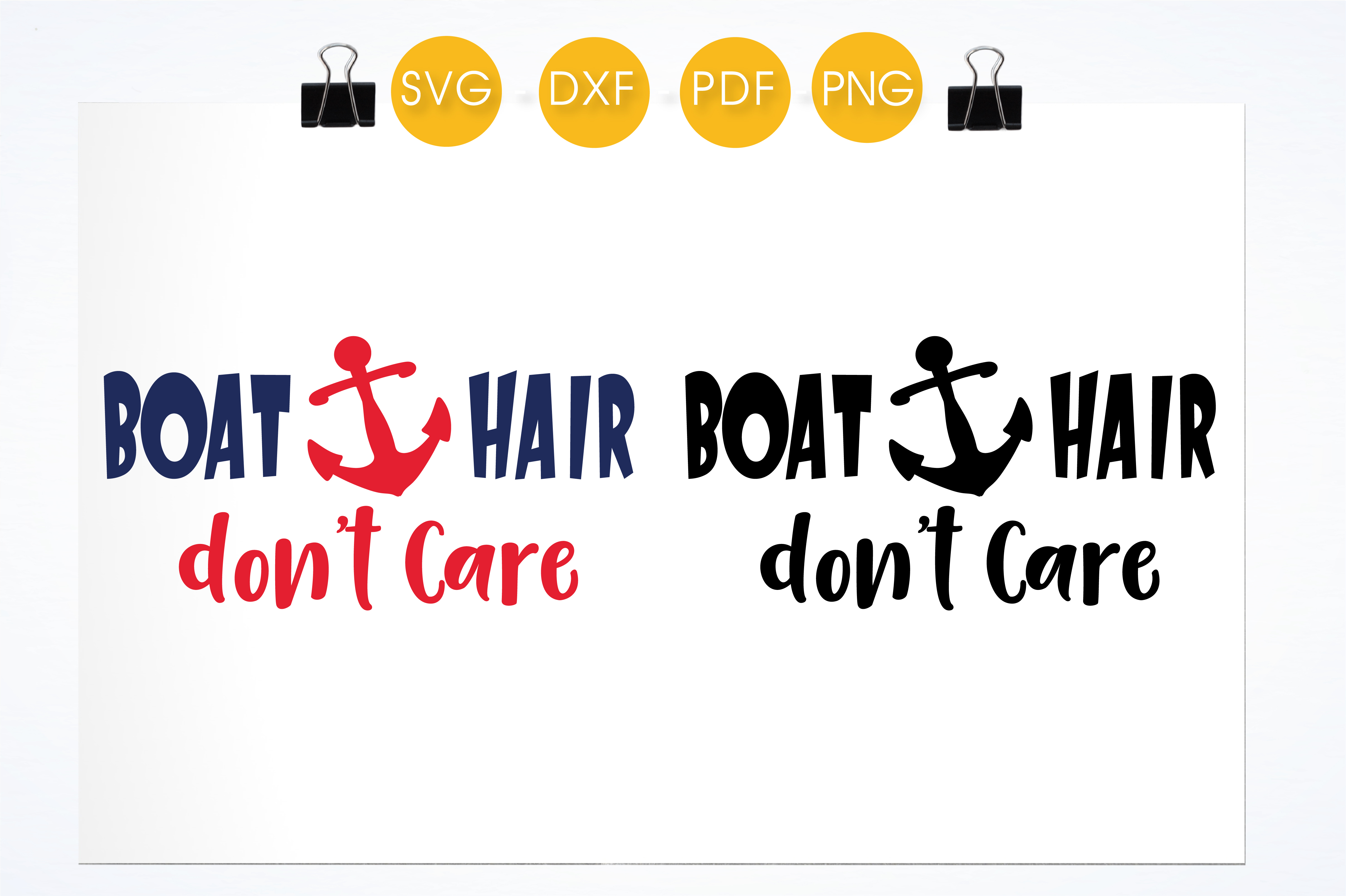 Download Free Boat Hair Don T Care Graphic By Prettycuttables Creative Fabrica SVG Cut Files