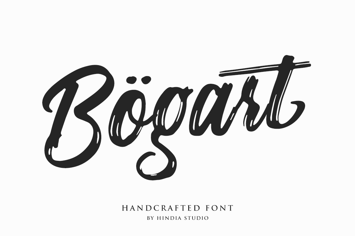 Print on Demand: Bogart Manuscrita Fuente Por Hindia Studio