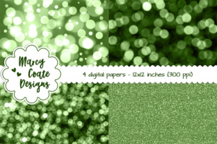 Bokeh & Glitter Backgrounds - Green Graphic By MarcyCoateDesigns