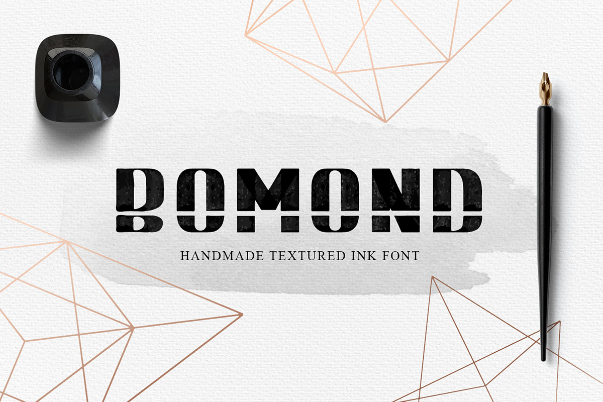Bomond Display Font By Cosmic Store