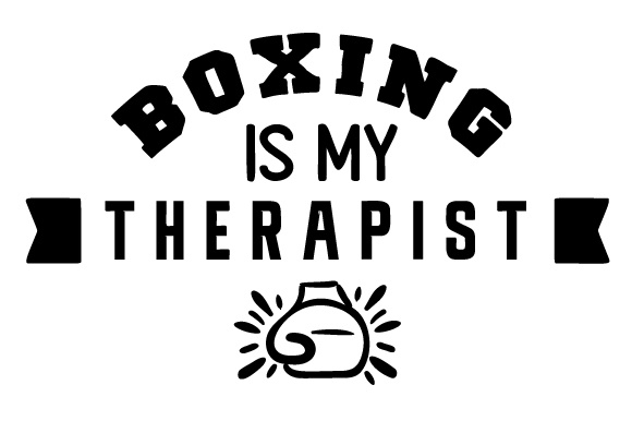 Boxing is My Therapist Sports Craft Cut File By Creative Fabrica Crafts