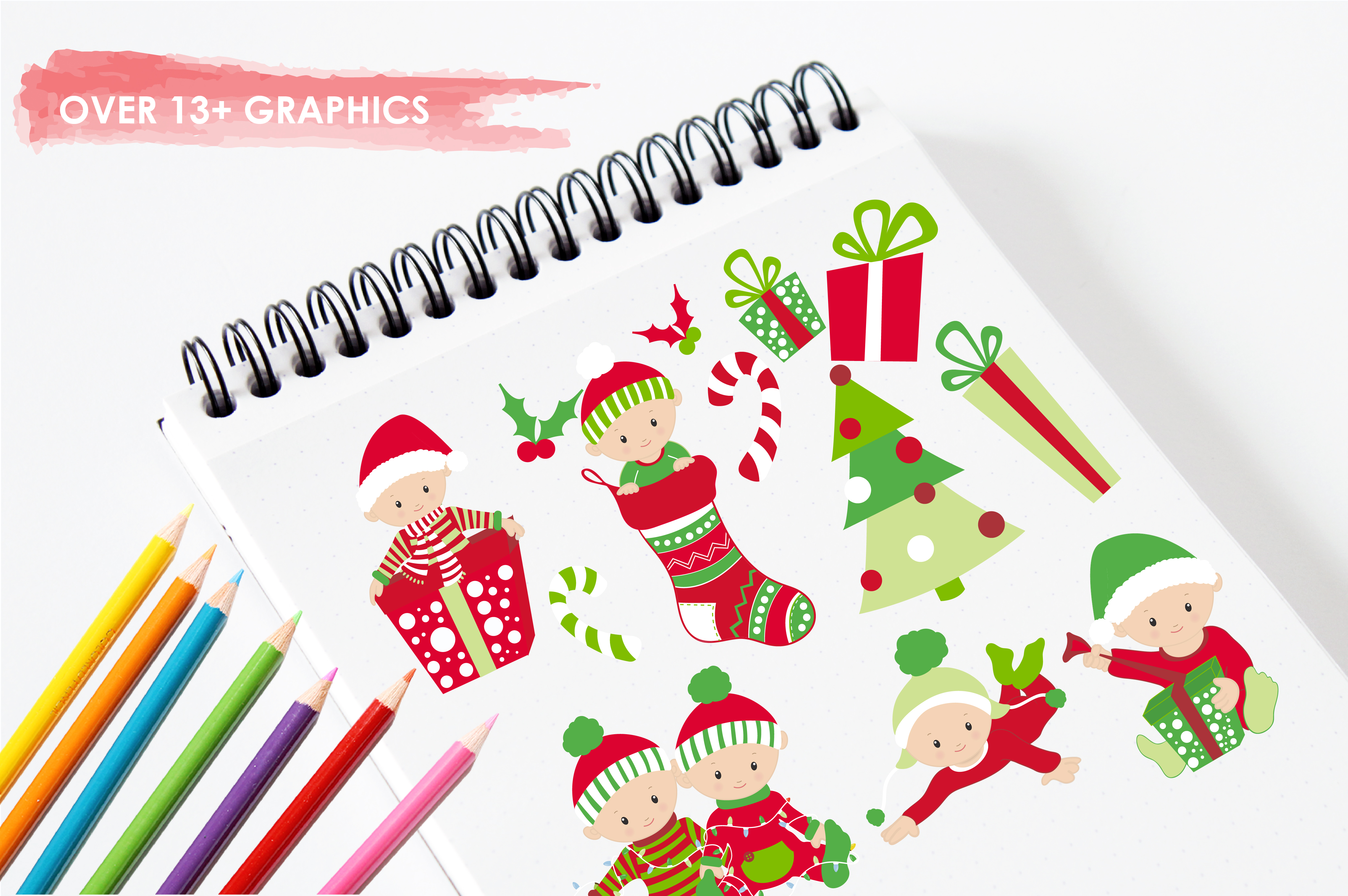Download Free Boy Christmas Babies Graphic By Prettygrafik Creative Fabrica for Cricut Explore, Silhouette and other cutting machines.