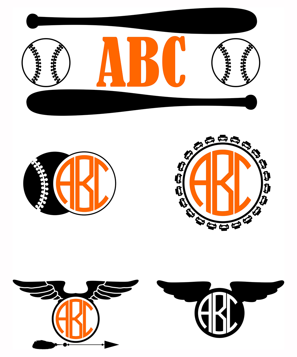 Download Free Boys Baseball Frames Monograms Svg Kids Vector Graphic By SVG Cut Files