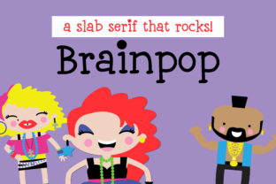 Download Free Brainpop Font By Illustration Ink Creative Fabrica for Cricut Explore, Silhouette and other cutting machines.