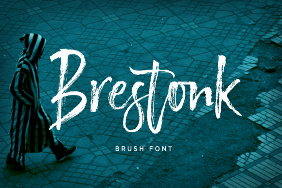 Print on Demand: Brestonk Script & Handwritten Font By Dhan Studio