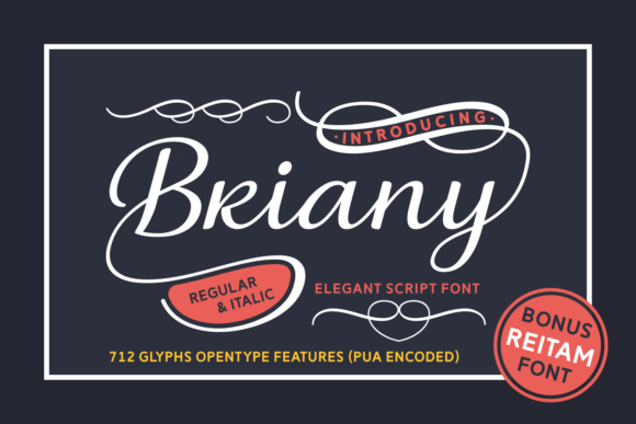 Print on Demand: Briany Script & Handwritten Font By Andrian Dehasta - Image 1
