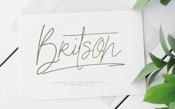 Print on Demand: Britson Script & Handwritten Font By Sigit Dwipa