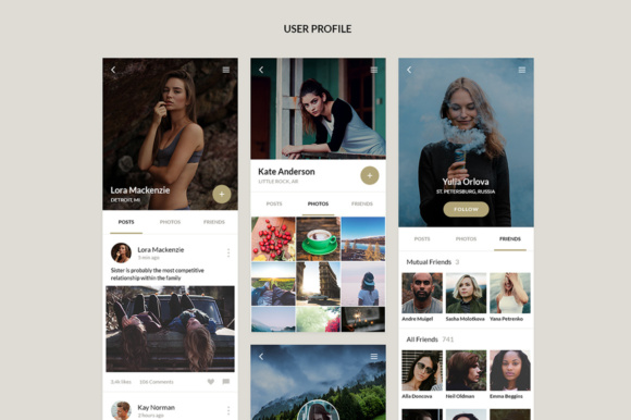 Bronze UI Kit Graphic UX and UI Kits By Creative Fabrica Freebies - Image 3