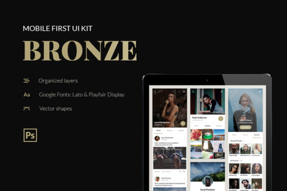Bronze UI Kit Graphic UX and UI Kits By Creative Fabrica Freebies - Image 1