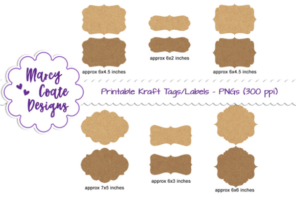 image relating to Printable Kraft Tags called Brown Kraft Tags Labels Clipart