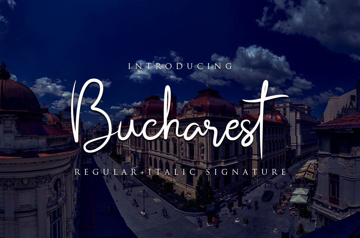 Print on Demand: Bucharest Script & Handwritten Font By Bluestudio