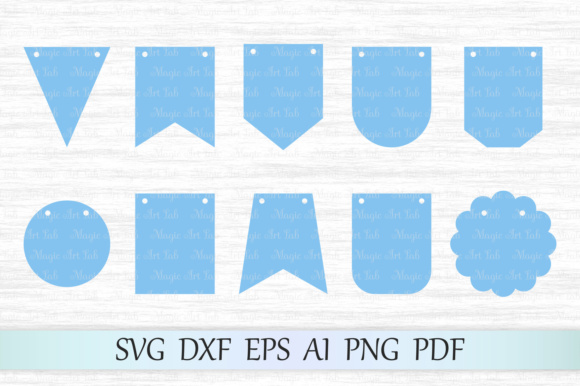 Bunting Banners Graphic Crafts By MagicArtLab