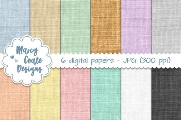 Burlap Backgrounds - Pastels Graphic Patterns By MarcyCoateDesigns