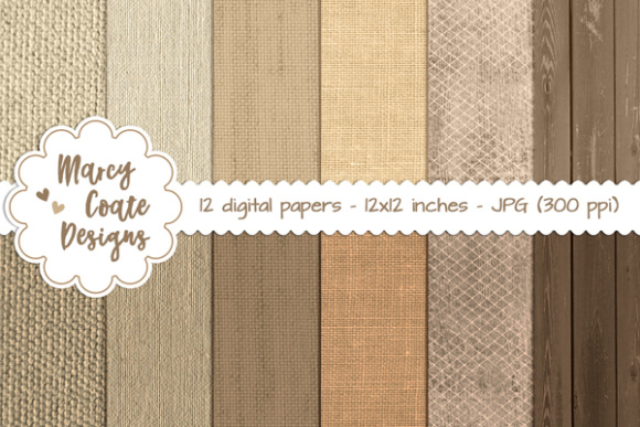 Burlap, Linen & Wood Backgrounds
