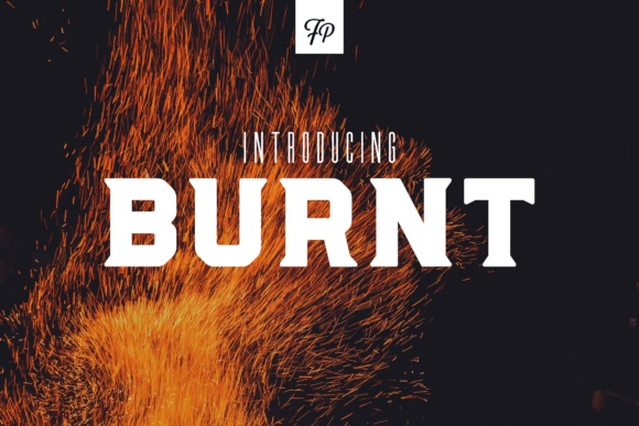 Print on Demand: Burnt Display Font By Fresh Pressed Fonts