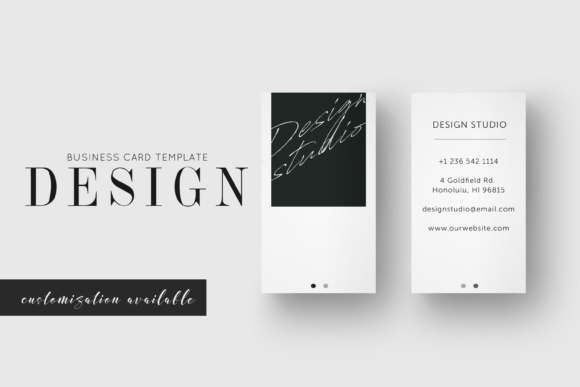 Business card design studio graphic by awesome templates creative business card design studio reheart Image collections
