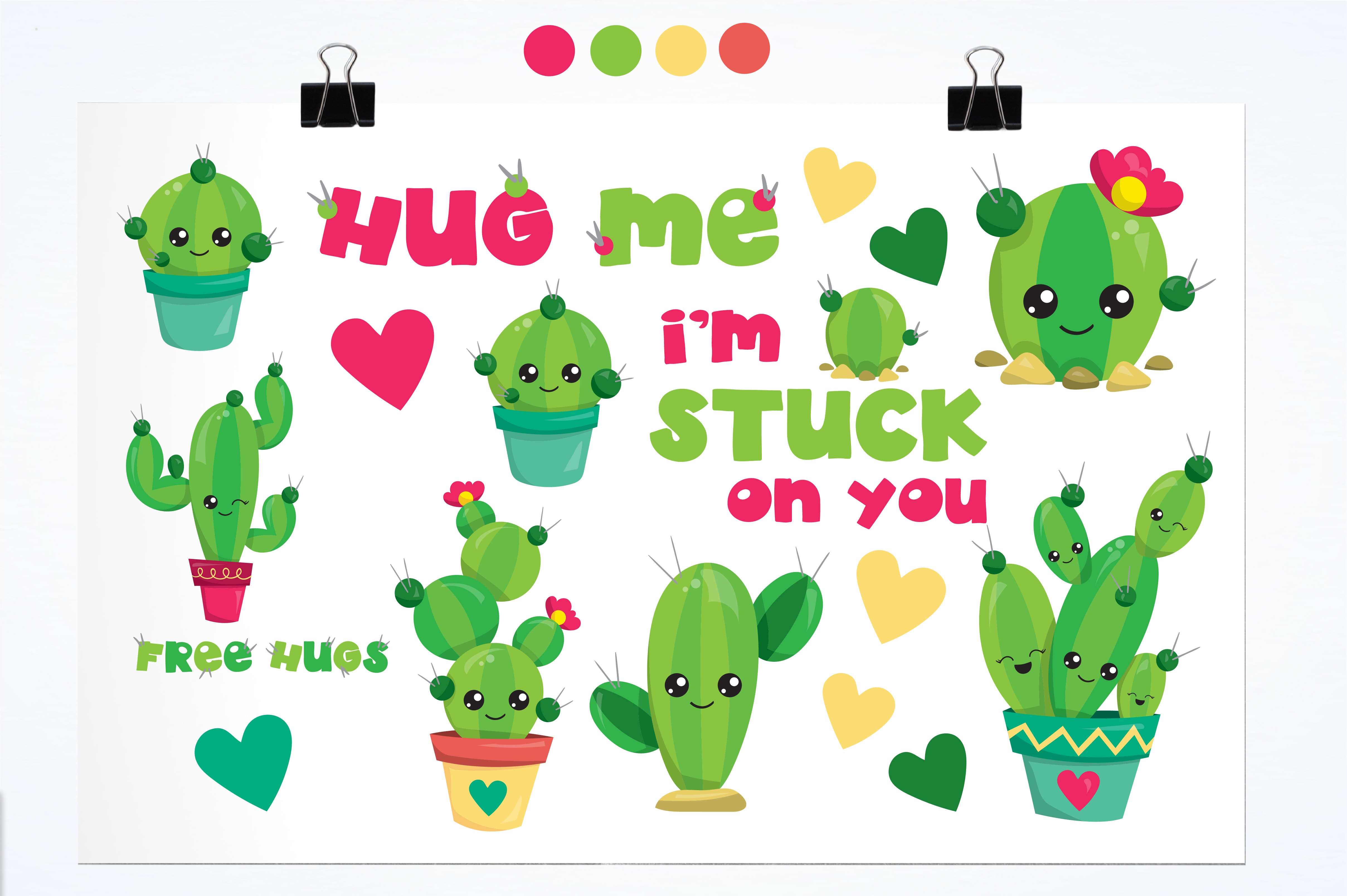 Download Free Cactus Love Graphic By Prettygrafik Creative Fabrica for Cricut Explore, Silhouette and other cutting machines.