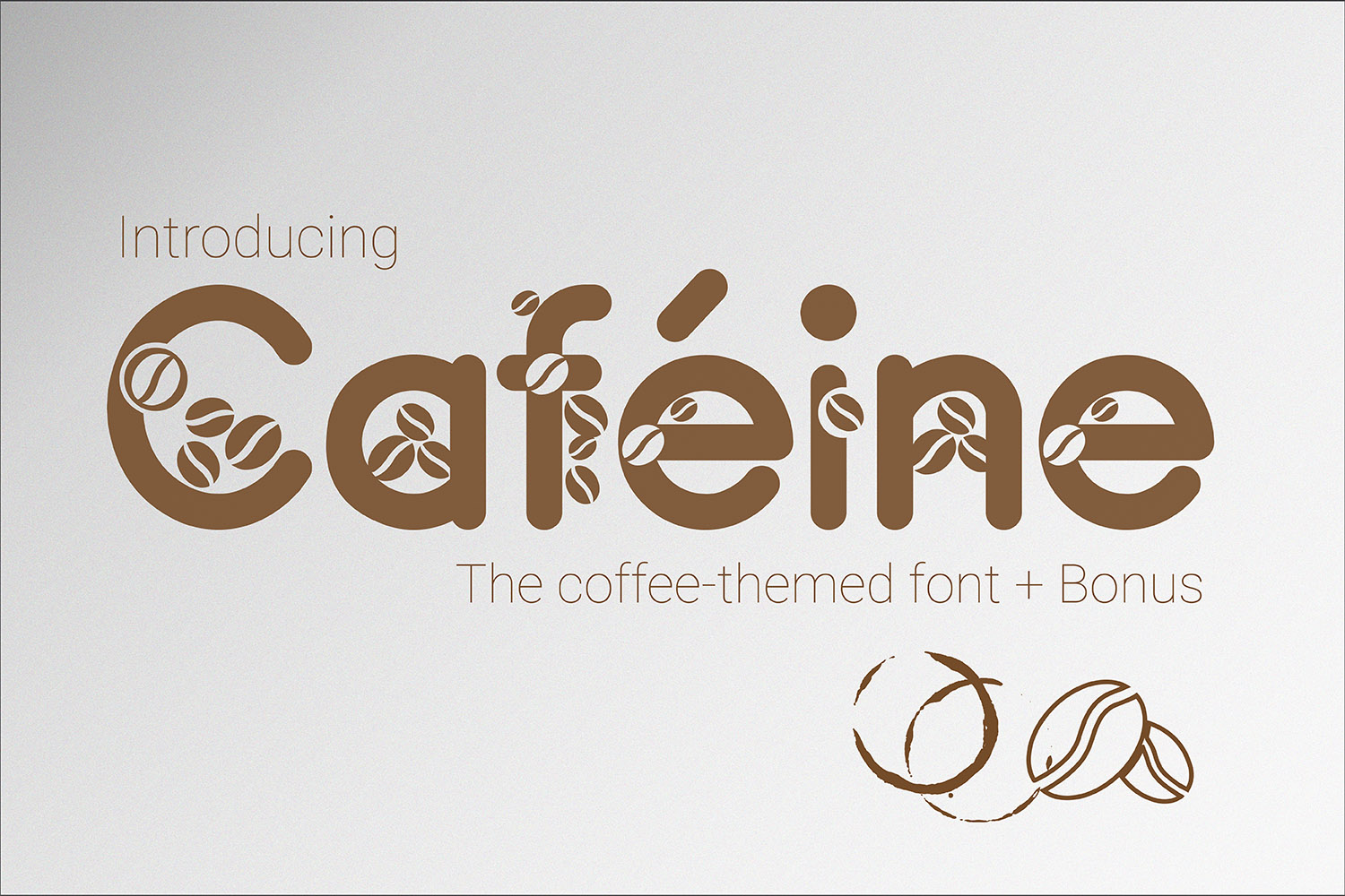 Print on Demand: Caféine Decorative Font By 38.lineart