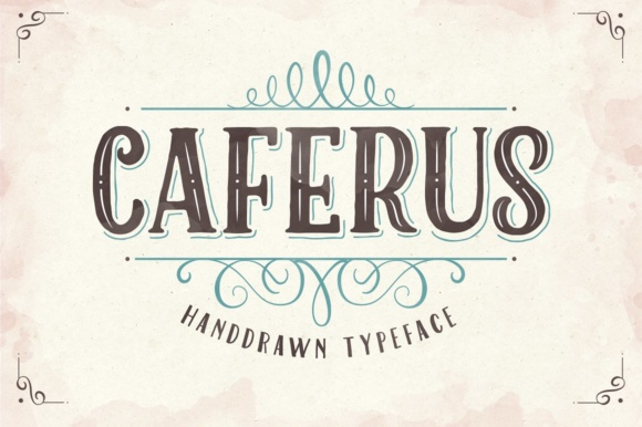 Caferus Display Font By flavortype
