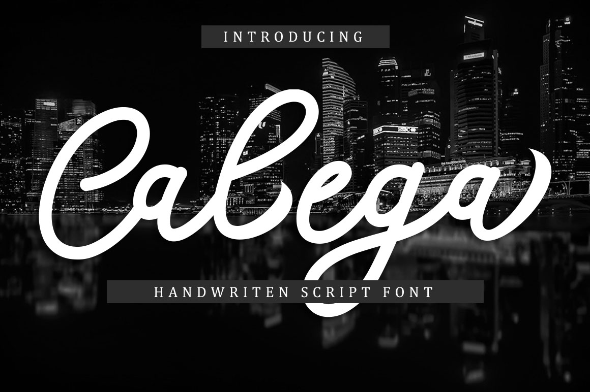 Print on Demand: Calega Script & Handwritten Font By Musafir LAB