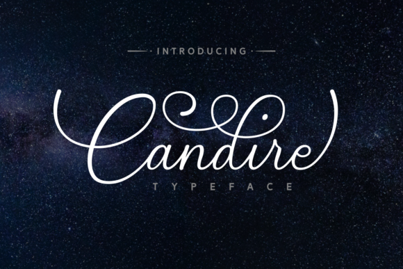 Print on Demand: Candire Script & Handwritten Font By Andrian Dehasta