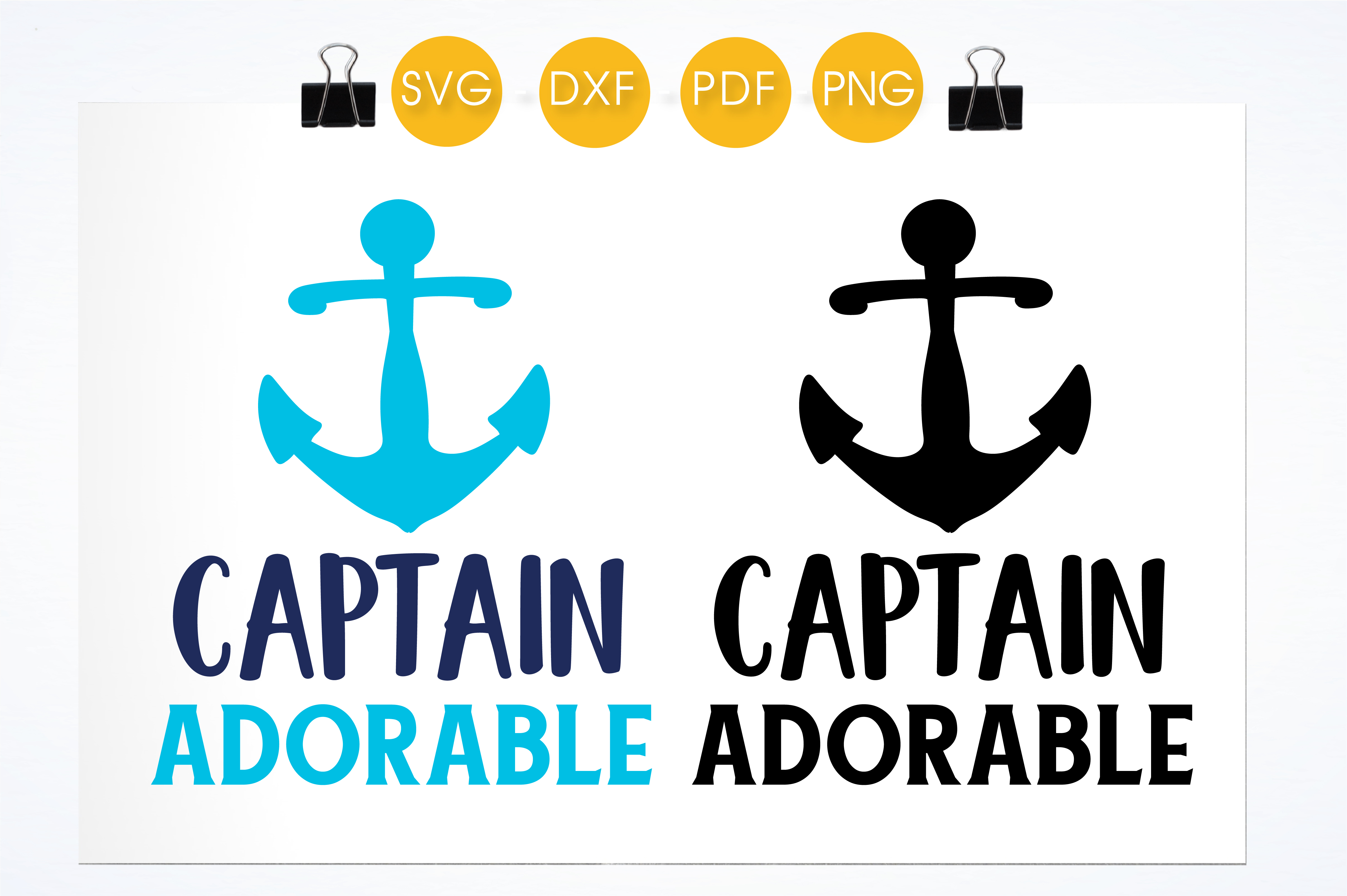Download Free Captain Adorable Graphic By Prettycuttables Creative Fabrica for Cricut Explore, Silhouette and other cutting machines.