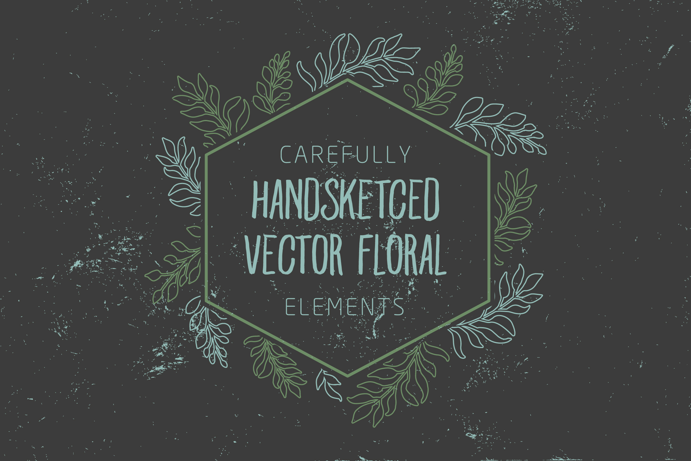 Carefully Handsketched Vector Floral Elements Graphic Illustrations By storictype