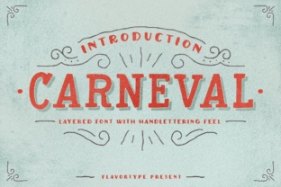 Print on Demand: Carneval Display Font By flavortype
