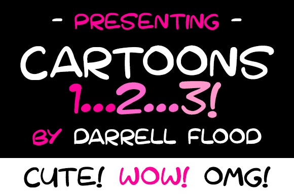 Print on Demand: Cartoons 123 Display Font By Dadiomouse