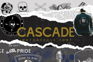 Print on Demand: Cascade Motorcycle Display Font By Angin Studio