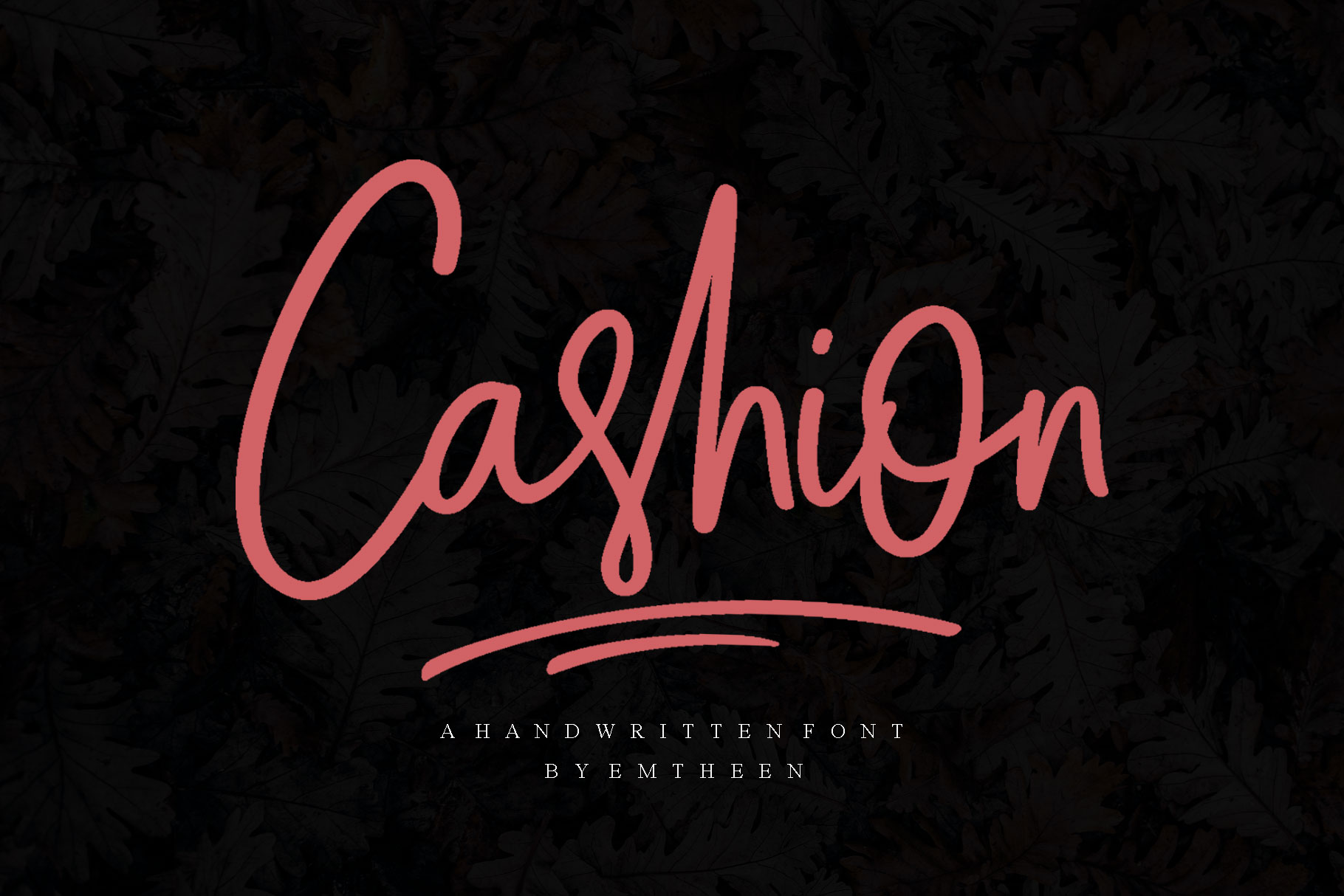 Print on Demand: Cashion Script & Handwritten Font By Emtheen Std.