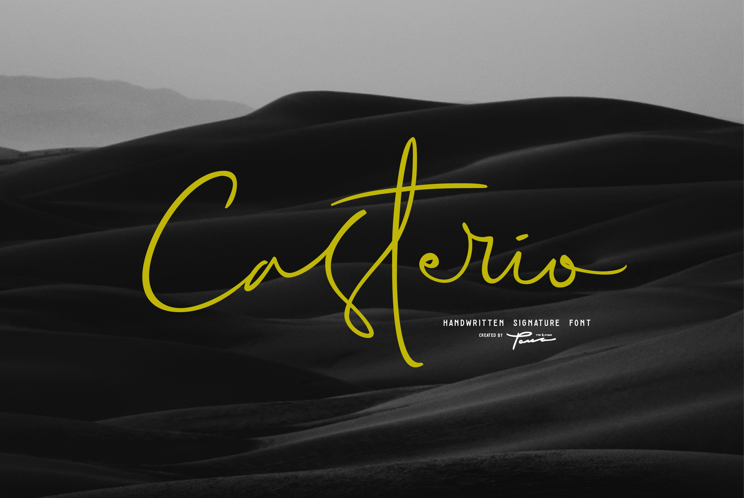 Print on Demand: Casterio Script & Handwritten Font By Pana Type