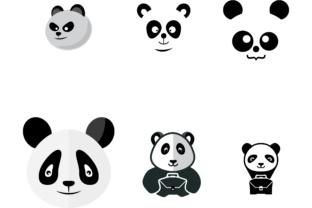 Character of Panda Head Graphic By sabavector