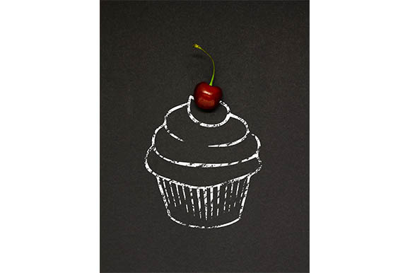 Cherry Cupcake Graphic Food & Drinks By Sasha_Brazhnik
