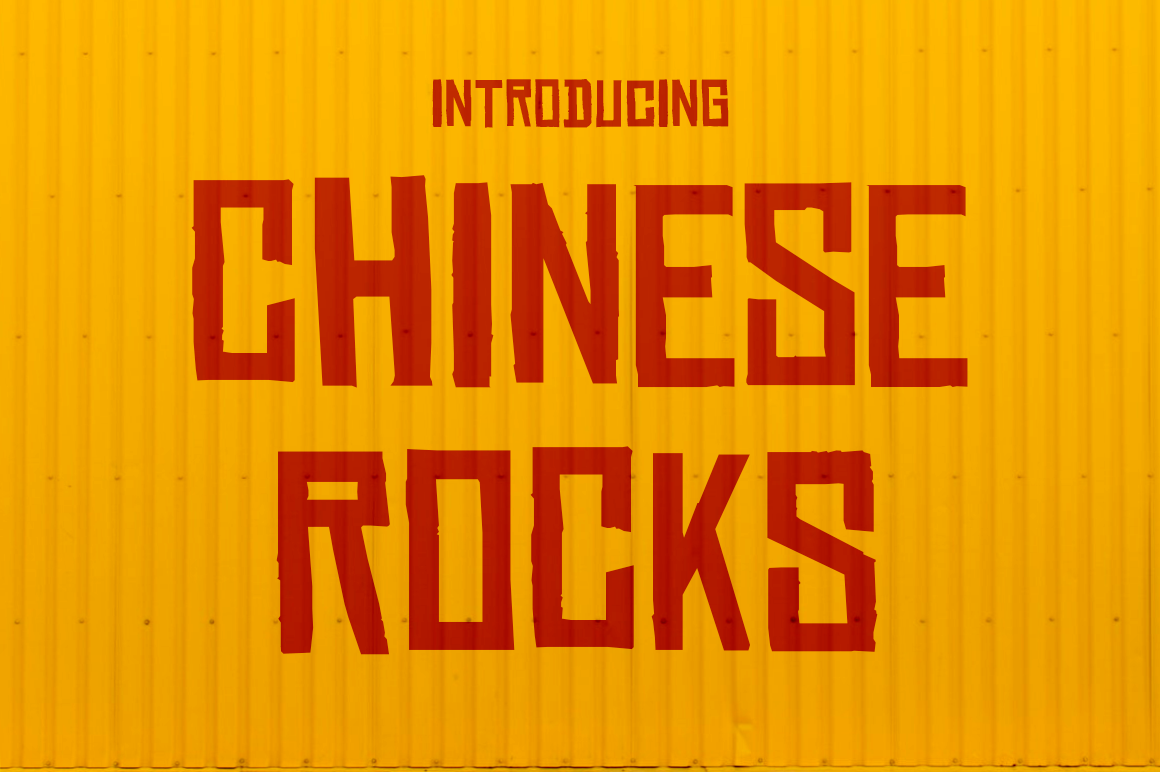 Print on Demand: Chinese Rocks Display Font By Typodermic