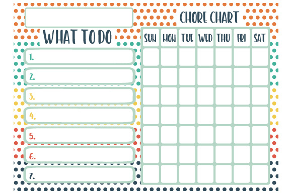 Chore Chart Designs & Drawings Craft Cut File By Creative Fabrica Crafts - Image 1